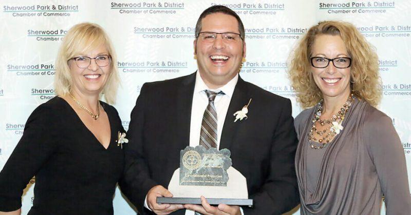 Image of GFL accepting Environmental Protection Award