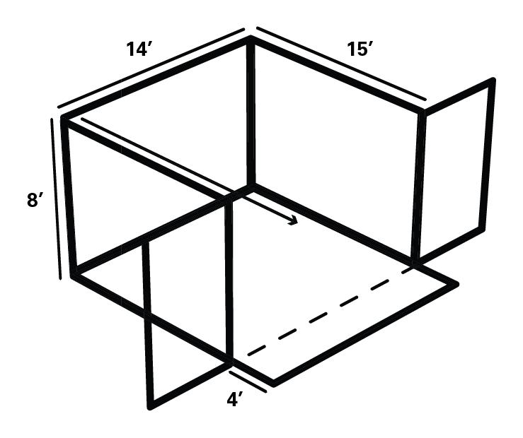 Front Load Corrals_Single Corral Schematic
