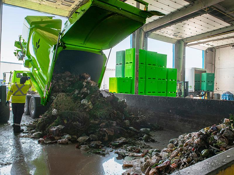 Services de collecte des déchets organiques résidentiels