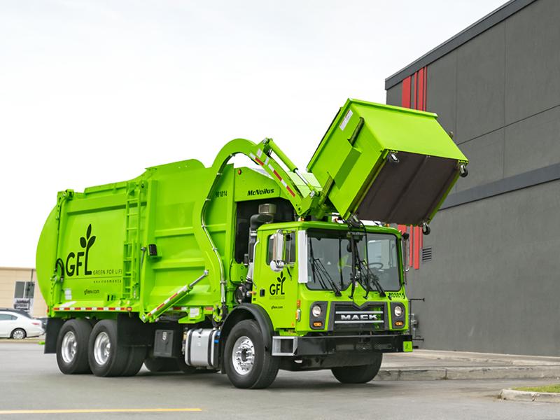 Services commerciaux de bennes à ordures
