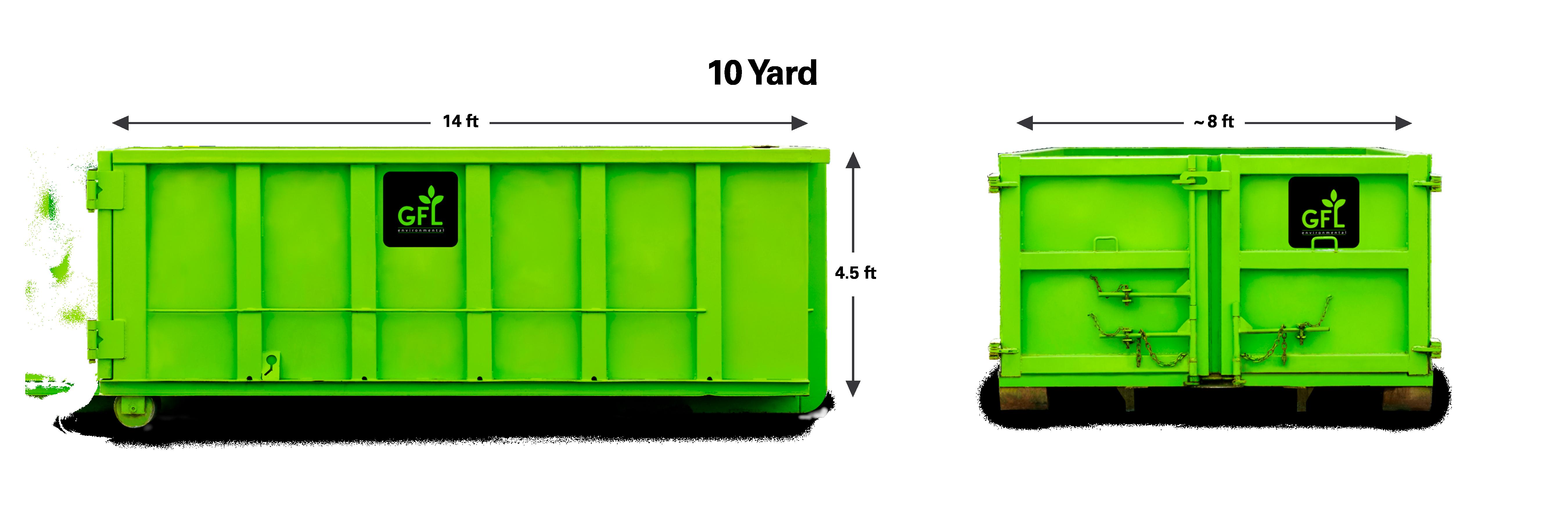 10-Yard Roll-off Dumpster from GFL